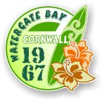 Cornwall Watergate Bay 1967 Surfer Surfing Design Vinyl Car sticker decal 97x95mm